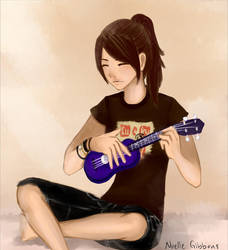 me playing ukulele by GrlwhoKnowSummat