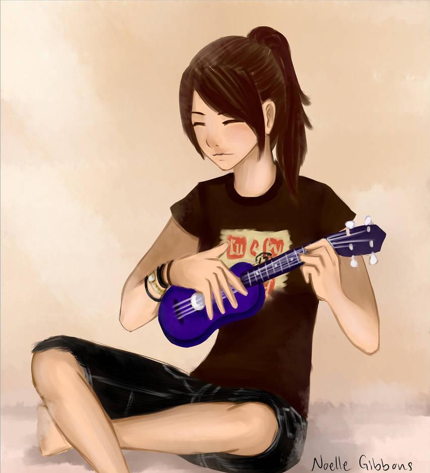 me playing ukulele by GrlwhoKnowSummat