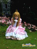 Princess Peach blows kisses by Sorayachi