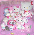Hello Kitty Plushies and Tomo by Sorayachi