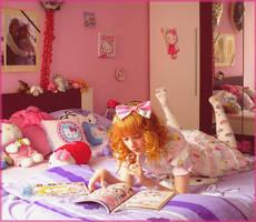Reading Gothic Lolita Bible by Sorayachi