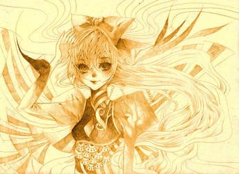 ::Girl in a wind:: by meisan