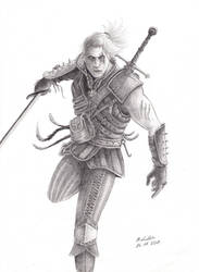 Geralt the witcher by Aryellyii