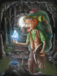 Gnome in the Cave by Aryellyii