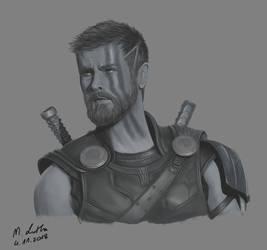 Thor Ragnarok by Aryellyii