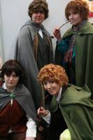 4 Hobbits by sawyerlein