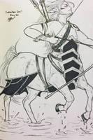 Inktober Day 20- Centaur  by Cerlinna