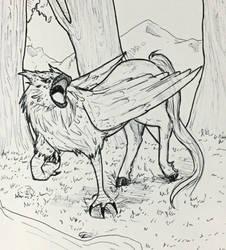 Inktober Day 28- Hippogriff~ by Cerlinna