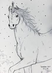 Inktober Day 29- Unicorn~ by Cerlinna