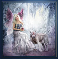 White Tiger visiting his Faery by Sarasai