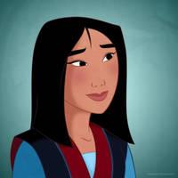 Disney Ladies: Mulan by Mangsney