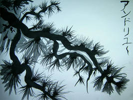 Sumi-e Tree by Ephemeral-Bliss