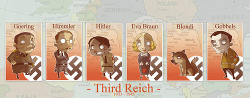 WWII Chara chibi's: The reich by ghonnen
