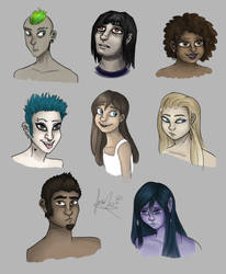 Characters sketch dump by Farah1996Yasser