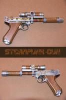Steampunk Gun by Argendriel
