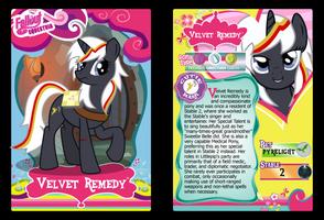 Velvet Remedy Trading Card by RinMitzuki