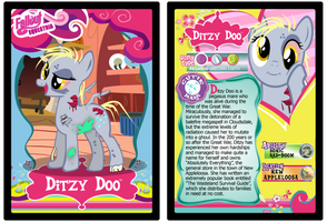 Ditzy Doo Trading Card by RinMitzuki