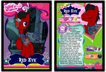 Red Eye Trading Card by RinMitzuki