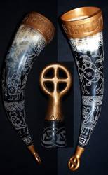 Viking drinkinghorn 2 by DarkSunTattoo