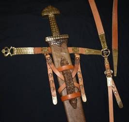 Viking sword scabbard by DarkSunTattoo