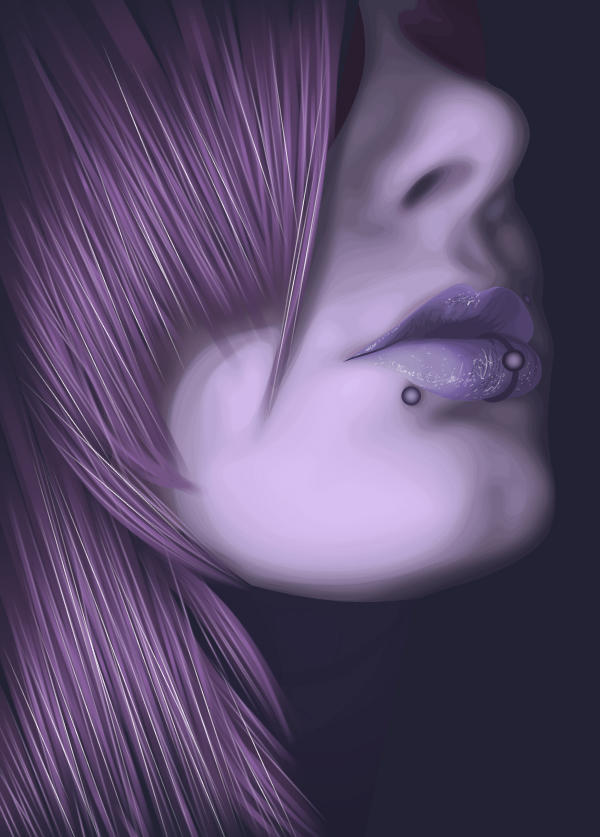 Sides of the violet by Vilone
