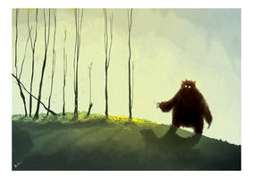 The lonely monsta by ArtofRoshan