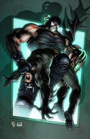 Bane breaks the Bat - COLORS by FableBound