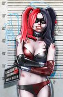 Arkham Mugshot Series - Harley Quinn by FableBound