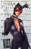 Arkham Mugshot Series - Catwoman by FableBound