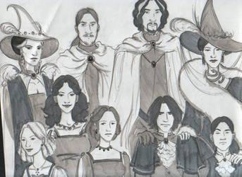 Black Family Portrait, Mark II by spectre-of-prague
