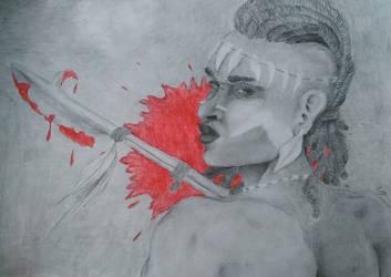 [Art trade] Sivari - The Tribal Huntress by Fairka