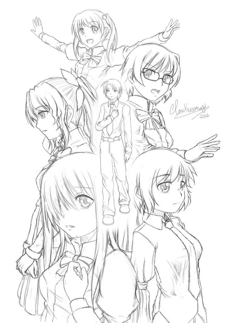 Katawa Shoujo - Sketch by ClowKusanagi