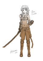 Claire Scarlet [OC] by ClowKusanagi