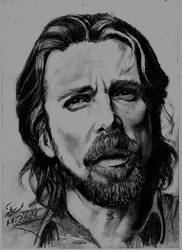 Christian Bale by Mohamed Ziou by MoZiou