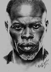 Djimon Hounsou by Mohamed Ziou by MoZiou
