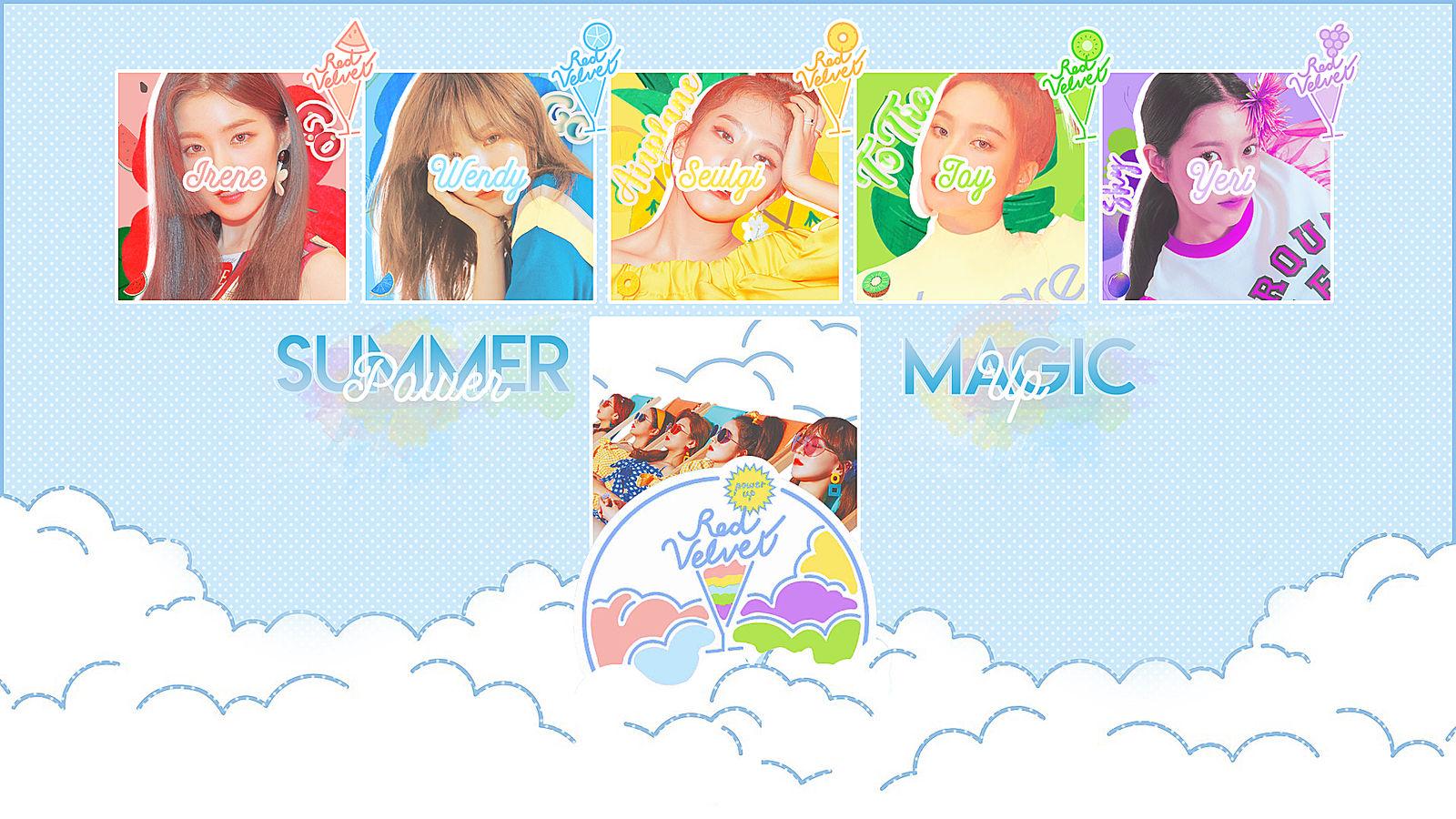 Red Velvet Summer Magic Power Up Wallpaper By Rosapjm2004 On