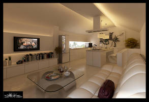 monochrome room by siek7171