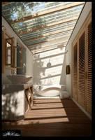 semi outdoor bathroom by siek7171