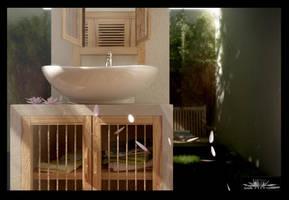 semi outdoor bathroom sink by siek7171