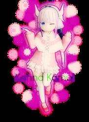 Kanna Kamui: Gothic Lolita with a Tribal Theme by GalPalsMMD
