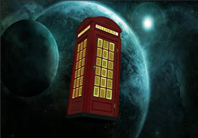 Red Tardis in Space... by calamitySi