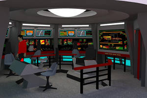 Star Trek TOS Bridge - U.S.S. Orion by calamitySi