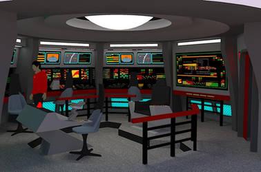 Star Trek TOS Bridge - U.S.S. Orion by calamitySi