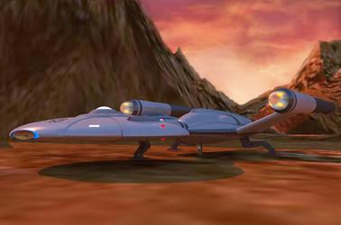 U.S.S. Orion Landing on Vulcan by calamitySi