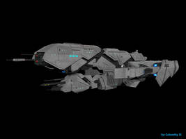 Halo 5 UNSC Frigate Triton: Test Render by calamitySi