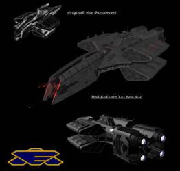 Babylon 5 Earthforce Destroyer EAS Ben-Hur by calamitySi