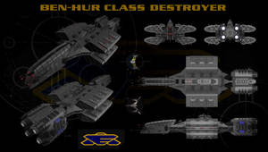 Babylon 5 Earthforce Destroyer EAS Ben-Hur Orthos by calamitySi