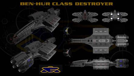 Babylon 5 Earthforce Destroyer EAS Ben-Hur Orthos by calamitySi