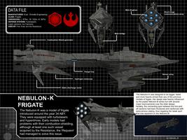 Star Wars Nebulon-K Frigate by calamitySi