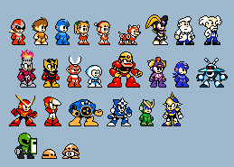 MM- Classic Megaman Characters by Shinbaloonba